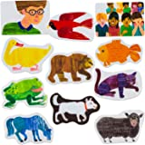 Little Folk Visuals Brown Bear Precut Flannel/Felt Board Figures for Toddlers, Kindergarteners, Interactive Teaching 14-Piece