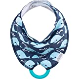 Dr Brown's Bandana Bib w/Teether, Whales (Blue With Turquoise Teether), 1-Pack