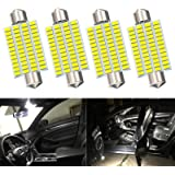 4Pcs 800 Lumens Super Bright 42mm Festoon Led Bulb,48-EX Chipsets 569 578 211-2 212-2 DE3423 DE3425 Led Bulb for Dome lights,