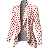 Awesome21 Women's Outerwear Solid Formal Office Style Open Front Blazer - Made in USA