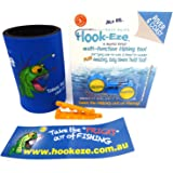 Hook-Eze Fishing Hook Tying and Safety Device Tool 1 x Twin Pack + Drink Cooler + Magnifye Hook Threader + Sticker Line Cutte