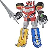 Power Rangers Mighty Morphin Megazord Megapack Includes 5 MMPR Dinozord Action Figure Toys for Boys and Girls Ages 4 and Up I