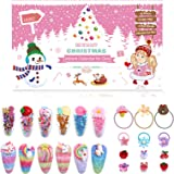 LIHAO Advent Calendar for Girls, Countdown to Christmas Advent Including Mini Hair Claw Clips, Hair Barrettes, Hair Ties