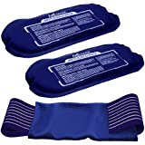 Medvice 2 Reusable Hot and Cold Ice Packs for Injuries, Joint Pain, Muscle Soreness and Body Inflammation, Reusable Gel Wraps