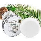 Solid Shampoo Bar, 100% Organic, Plant Based, SLS Free, Vegan, All Hair Types & Body Care   pH Balanced, Plastic Free  Eco Fr