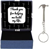 Fathers Day Gifts for Dad Thank You for Helping Me Build My Life Birthday Gifts for Dad Daughter Gifts Hammer Keychain & Gift
