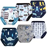 MooMoo Baby 6PCS Soft Potty Training Pants Kid Potty Pants Toilet Training Underwear Nappy Pants for Baby Boy 2T-6T(2T (Waist