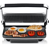 Sunbeam GC7850B Contact Grill and Press Brushed Griddles, Stainless Steel