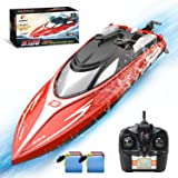 DEERC H120 RC Boat Remote Control Boats for Pools and Lakes,20+ mph 2.4 GHz Fast Racing Boats for Kids and Adults with 2 Rech