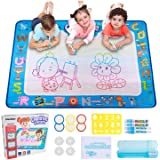 Hautton Aqua Magic Water Doodle Mat, 39.5 x 31.5 Inch Large Drawing Coloring Mat Painting Writing Board with 15 Accessories E