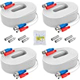 ANNKE Security Camera Cable (4) 30M/ 100ft All-in-One BNC Video Power Cables, BNC Extension Wire Cord for CCTV Camera DVR Sec
