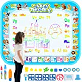HonShoop Water Drawing Mat, Aqua Magic Doodle Mat, Large Coloring Mat, Xmas Gift for Toddlers Boys/Girls (40 31.5inches)