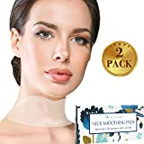 Silicone Neck Wrinkle Pad - Set of 2 Silicone Care Patches for Neck Wrinkles Treatment and Prevention - Reusable Anti Wrinkle