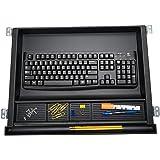 Mind Reader LGKEYORG-BLK Large Under Desk Tray, Ergonomic Computer Keyboard & Mouse Platform, Adjustable Drawer, Black Keyboa