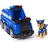PAW Patrol Ultimate Rescue - Chase's Ultimate Rescue Police Cruiser with Lifting Seat and Fold-out Barricade, for Ages 3 and
