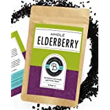 Birds & Bees Teas - Elderberries Dried Organic 1 lb Bulk, Makes Great Black Elderberry Tea and Sambucus Nigra is Known for It