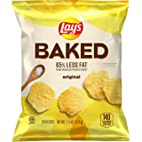 Lay's Oven Baked Original Potato Crisps, 1.125 Ounce (Pack of 64)
