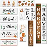 14pcs Fall Stencils for Painting on Wood,Reusable Thanksgiving Harvest Porch Sign Stencils,Including Happy Fall Y'all/Harvest
