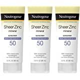 Neutrogena Sheer Zinc Oxide Dry-Touch Sunscreen Lotion with Broad Spectrum SPF 50 UVA/UVB Protection, Water-Resistant, Hypoal
