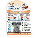 SinkShroom The Revolutionary Sink Drain Protector Hair Catcher/Strainer/Snare Gray