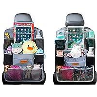 シートバックポケット 車用収納ポケット 後部座席収納バッグ ベビー用品 子供用品車内収納袋 助手席収納ボックス (グレー…