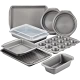 Circulon Nonstick Bakeware Set with Nonstick Bread Pan, Cookie Sheet, Baking Pans, Baking Sheet, Cake Pans and Muffin/Cupcake