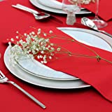 Kadut Cloth Dinner Table Napkins (12 Pack) | 17 x 17 Inch Table Linens Made from Stain & Wrinkle Resistant Polyester | Fabric