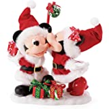 Department 56 Possible Dreams Disney Mickey and Minnie Mouse Big Kiss Figurine, 6.75 Inch, Multicolor