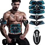 Buydaly Intelligent wireless fitness apparatus,Abdominal muscle toner, Gym Massager Pad Abdominal Muscle Exerciser Belts...