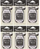 【6個セット】John'sBlend エアーフレッシュナー WHITEMUSK ノルコーポレーション OAJON0101
