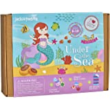jackinthebox Under The Sea Themed Craft Kit   Includes Beautiful Felt Mermaid Sewing Kit   3 Different Crafts-in-1   Best  Gi