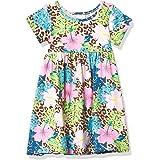 Flap Happy Girls' UPF 50+ Laya Short Sleeve Tee Dress