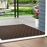 Color&Geometry Outdoor Door Mat 24X47 Rubber Mats, Low-Profile Doormat, Indoor Outdoor, Waterproof,Mat for Floor, Patio, Entr