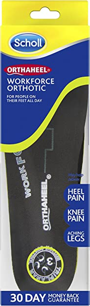 Scholl Orthaheel Orthotic Insole Pain Relief and Support Work, Small