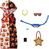 Barbie Storytelling Fashion Pack of Doll Clothes Inspired by Super Mario: Hoodie Dress & 6 Accessories for Barbie Dolls,  3 t
