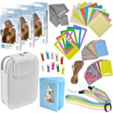 Zink Photo Paper and Frames Kit – 60 Pack - Sticker Paper for HP Sprocket Portable Printer - Sticky 2x3 Sheets for Printing P