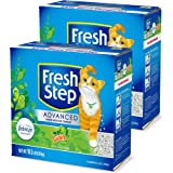 Fresh Step Advanced Cat Litter, Clumping Cat Litter, 99.9% Dust-Free, Gain Scent, 37 Pounds Total (2 Pack of 18.5 lb Boxes)