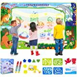 SPLAKS Water Doodle Mat, 150X100cm Water Drawing Mat Extra Large Mess Free Water Magic Mat Educational Colouring Painting Mat
