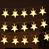 Twinkle Star 40 LED 14 FT Star String Lights Battery Operated, Fairy String Light for Home, Party, Christmas, Wedding, New Ye