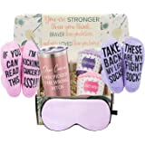 Breast Cancer Survivor Gifts Basket for Women - Chemo Survivor, Ovarian, Breast Cancer Awareness Gift - Cancer Warrior Gifts