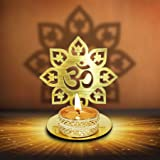 Om Shape Diwali Shadow Diya. Deepawali Traditional Decorative Diya in Om Shape for Home/Office.Religious Tea Light Candle Hol
