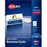 Avery Printable Business Cards, Inkjet Printers, 1,000 Cards, 2 x 3.5, Heavyweight (8471)