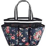 ALINK Mesh Shower Caddy Basket, Portable Travel Toiletry Bag for College Dorm Bathroom - Flower Design