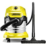 Karcher 1.348-155.0 WD 4 Wet & Dry Vacuum Cleaner, Yellow