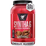 BSN SYNTHA-6 Whey Protein Powder, Micellar Casein, Milk Protein Isolate, Chocolate Milkshake, 28 Servings (Packaging May Vary