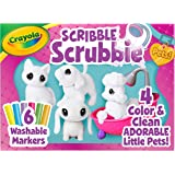 Crayola Scribble Scrubbie Pet Play Set, Colour, Rinse & Re-Pet, Colour & Clean Adorable Pets, Washable Toy, Featuring 2 Dogs,