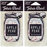 ノルコーポレーション John's Blend ルームフレグランス エアーフレッシュナー アップルペアーの香り セット 2枚セット
