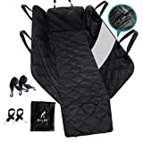 Belvie Pets® Premium Dog Car Seat Cover, 2X Free Seat Belts, Durable and Waterproof Pet Seat Cover for Back Seat with Zipper