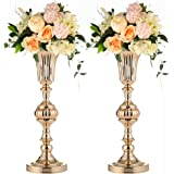 "Trumpet Vases for Centerpieces Tall Vase Wedding Centerpieces For Tables,(19.7""/50cm H) Flower Holder,2pcs Flower Stand And W"