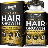 Genius Hair Growth for Women & Men - Hair Growth Vitamins w/Biotin & Keratin - Prevents Hair Loss & Thinning, Supports Thicke